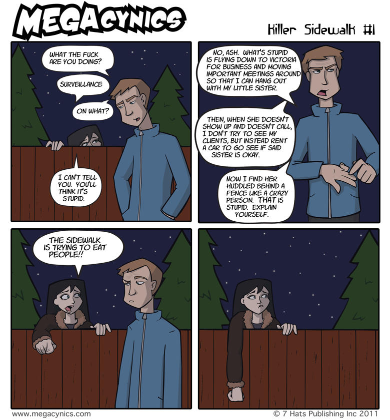 MegaCynics: Killer Sidewalk #1 (Feb 18, 2011)