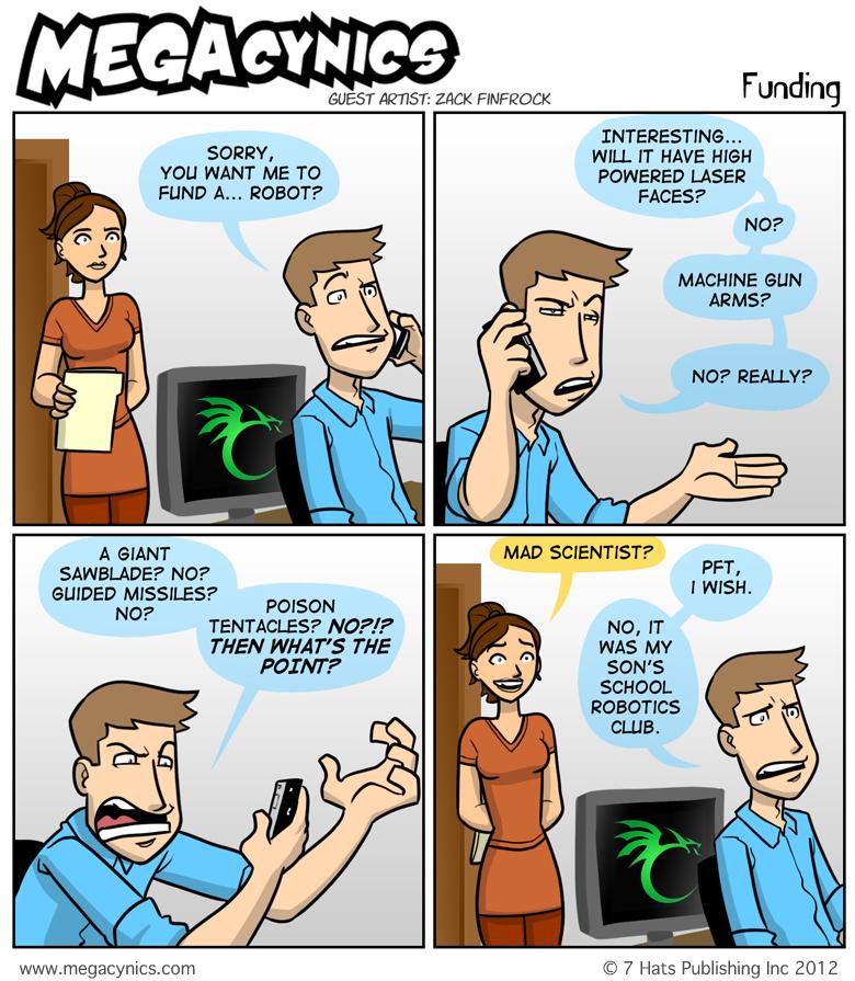 MegaCynics: Funding (Feb 6, 2012)
