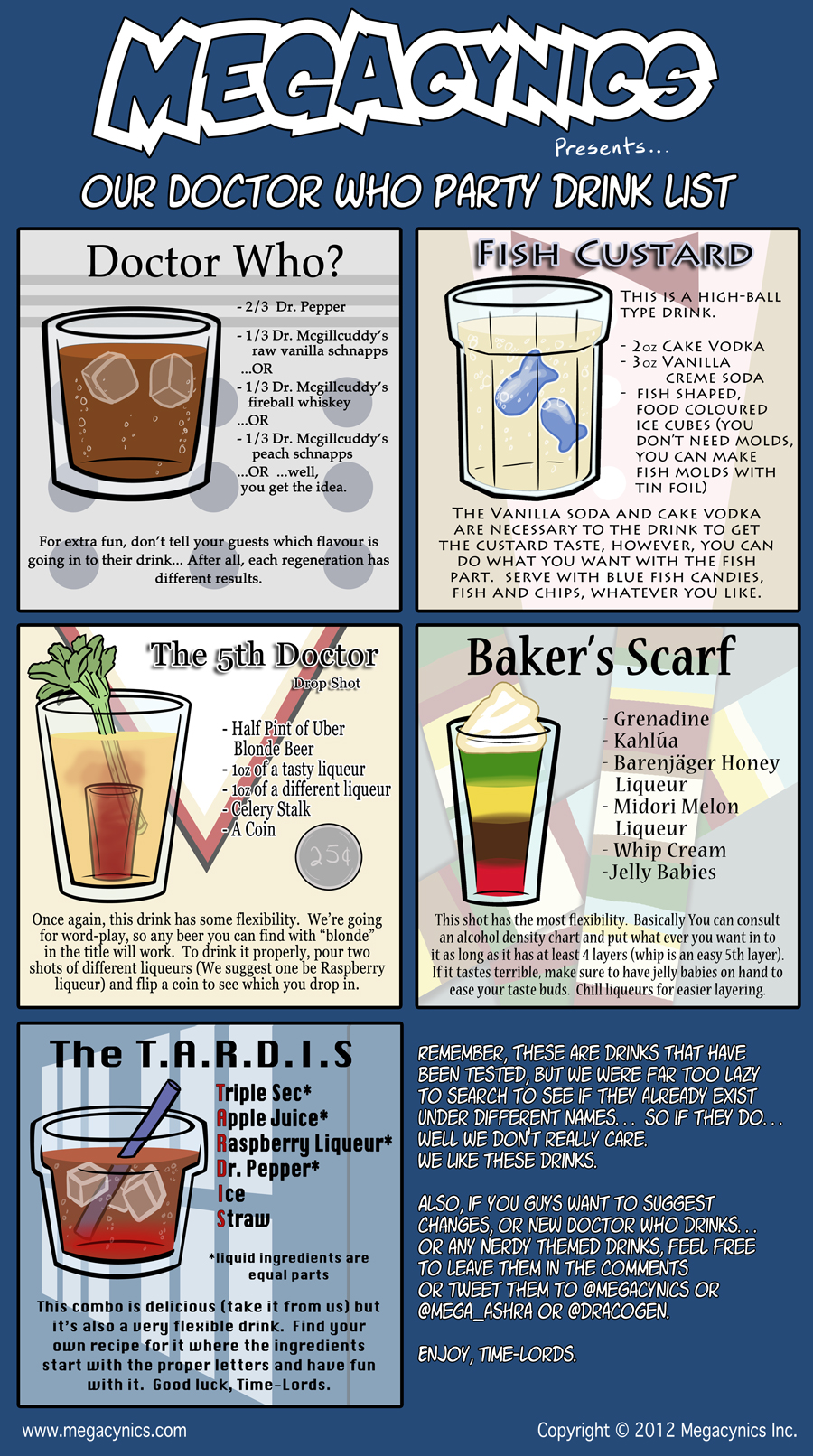 MegaCynics: Doctor Who Drink List (May 25, 2012)