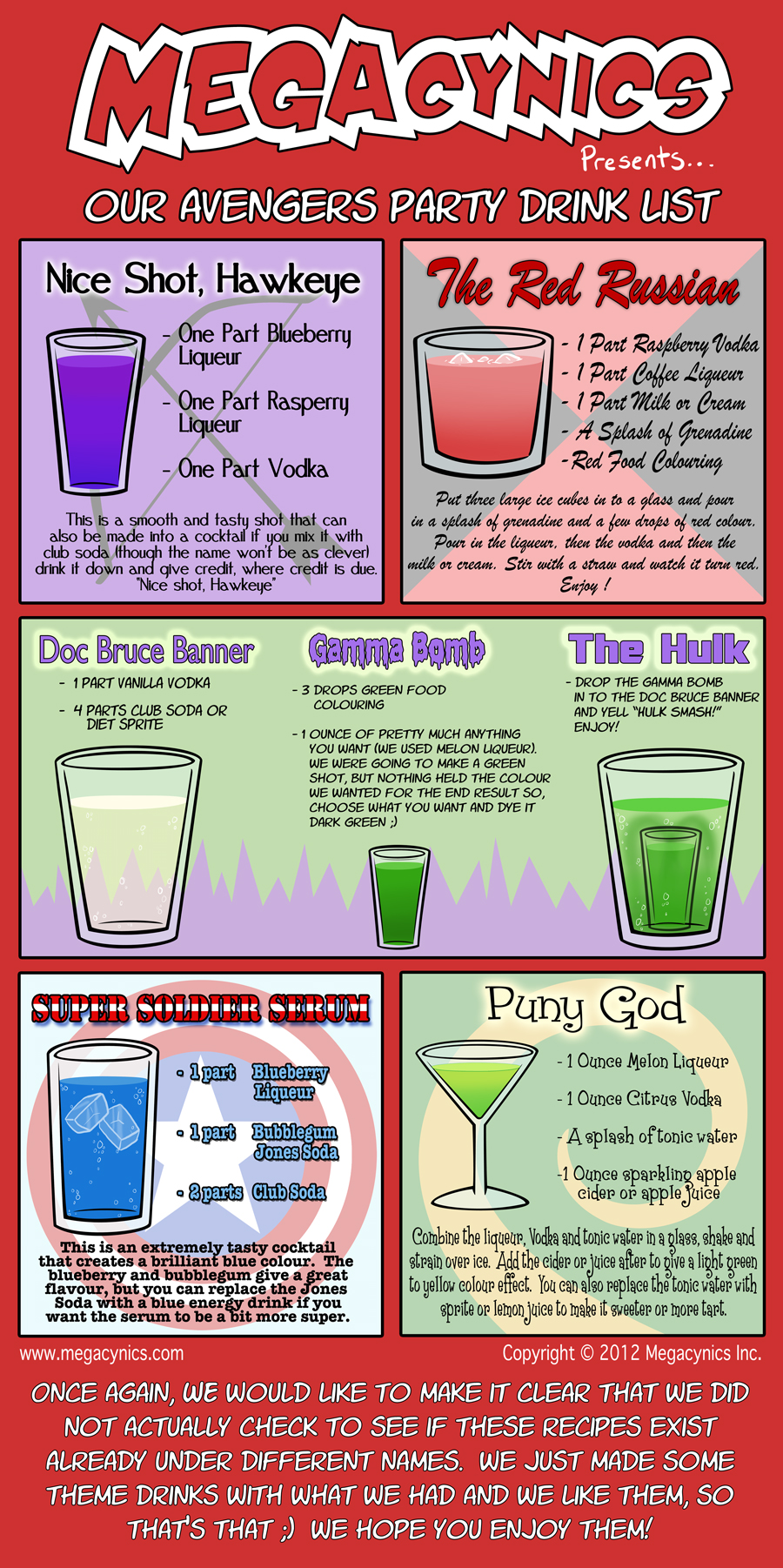 MegaCynics: Avengers Drink List (Sep 28, 2012)