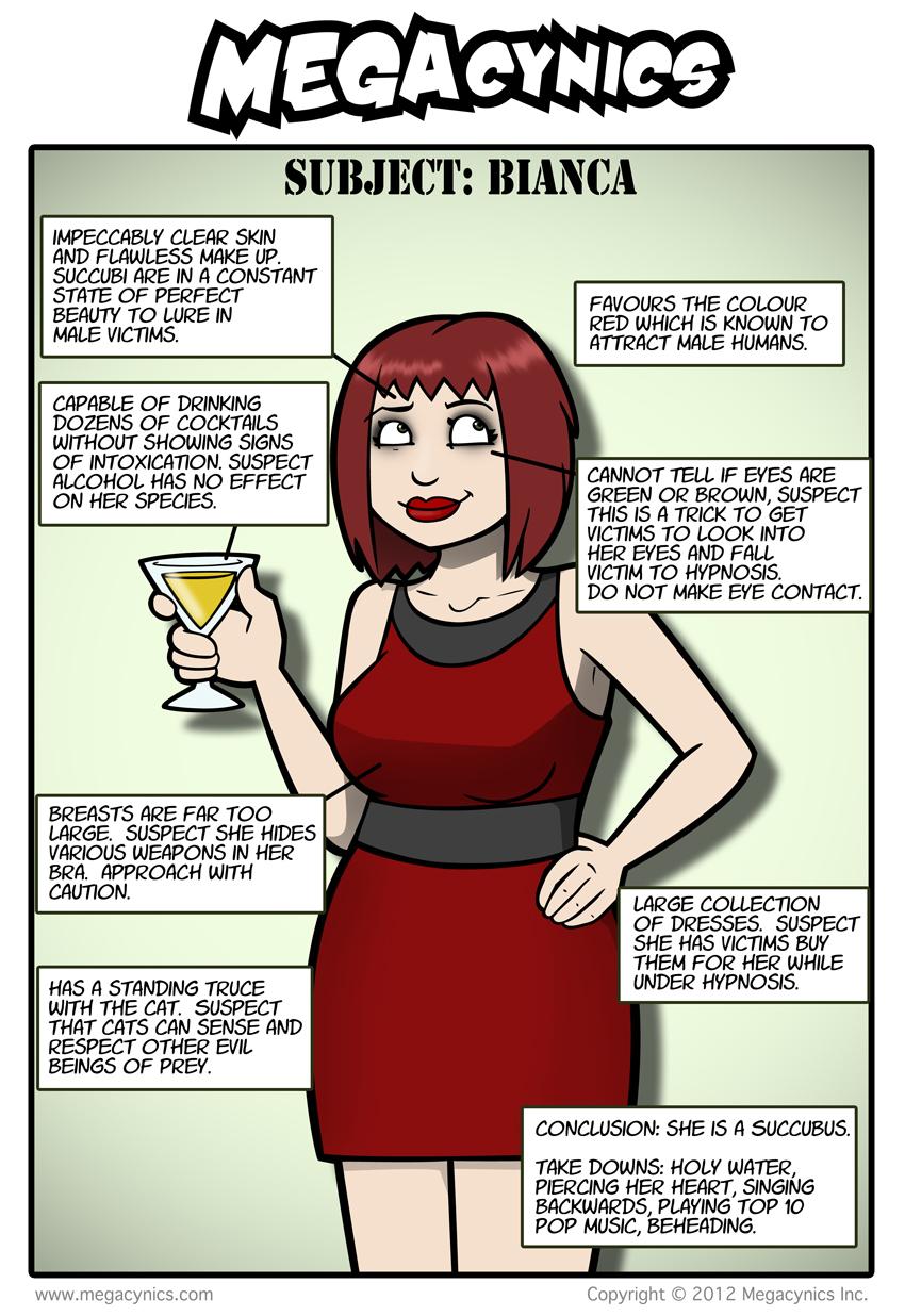 MegaCynics: Subject: Bianca (Nov 21, 2012)