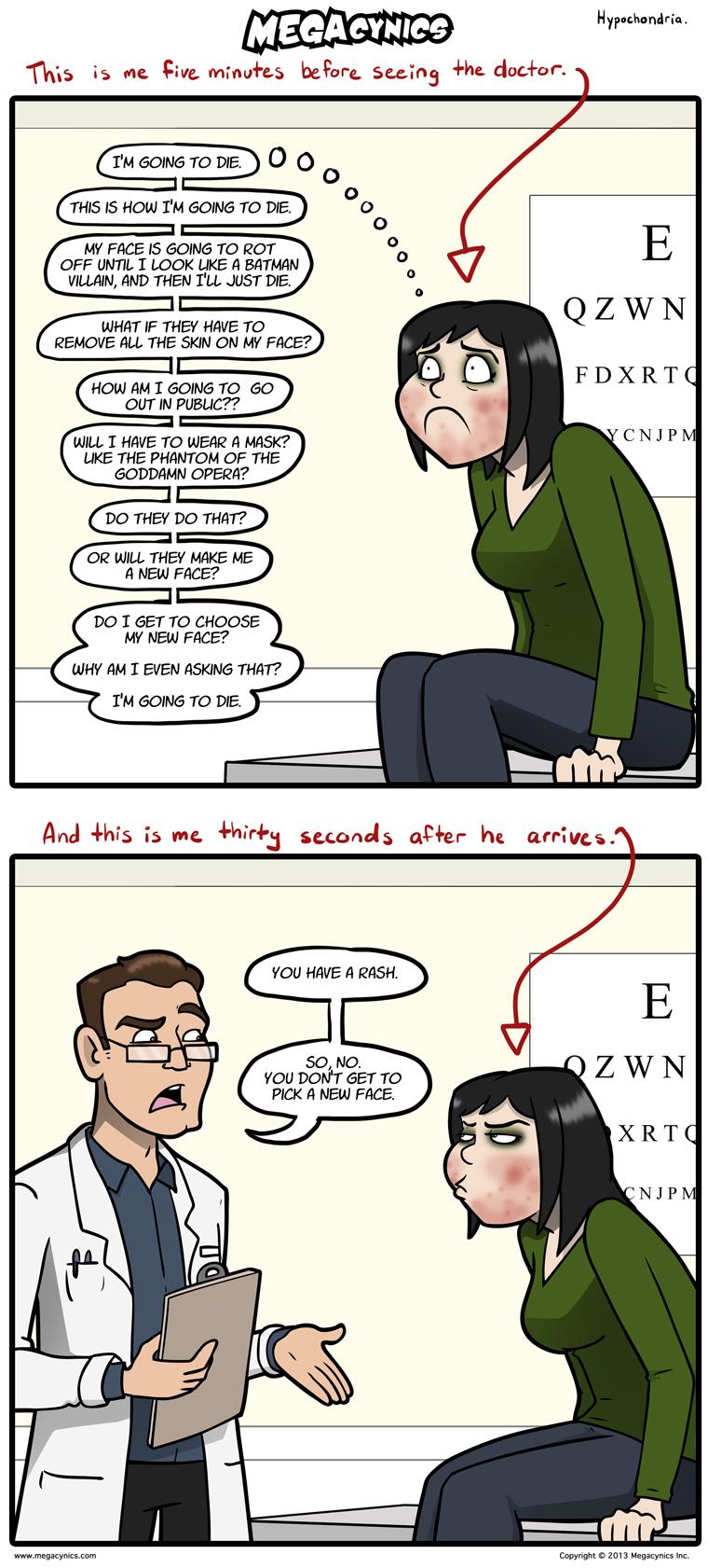 MegaCynics: Hypochondria (Oct 2, 2013)