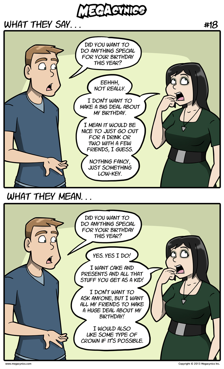 MegaCynics: What They Say #18 (Dec 2, 2013)