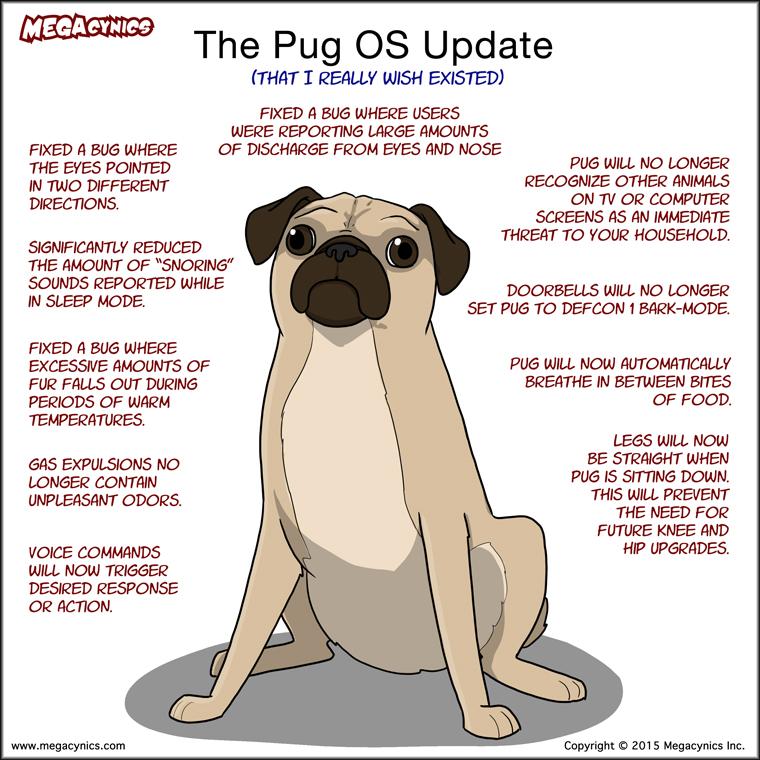 MegaCynics: Pug OS Update (Apr 3, 2015)